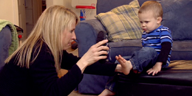 Connecting Parents Screencap - Mom putting on shoes